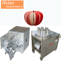 apple peeling coring slicing machine/industrial apple peeler/apple peeler corer slicer