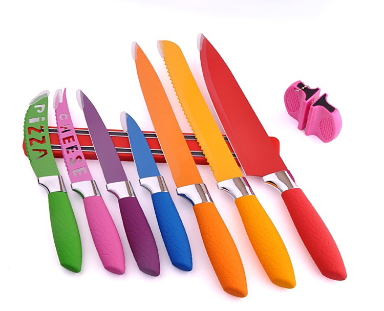 New products 2017 innovative product! Non-stick swiss line color knife set