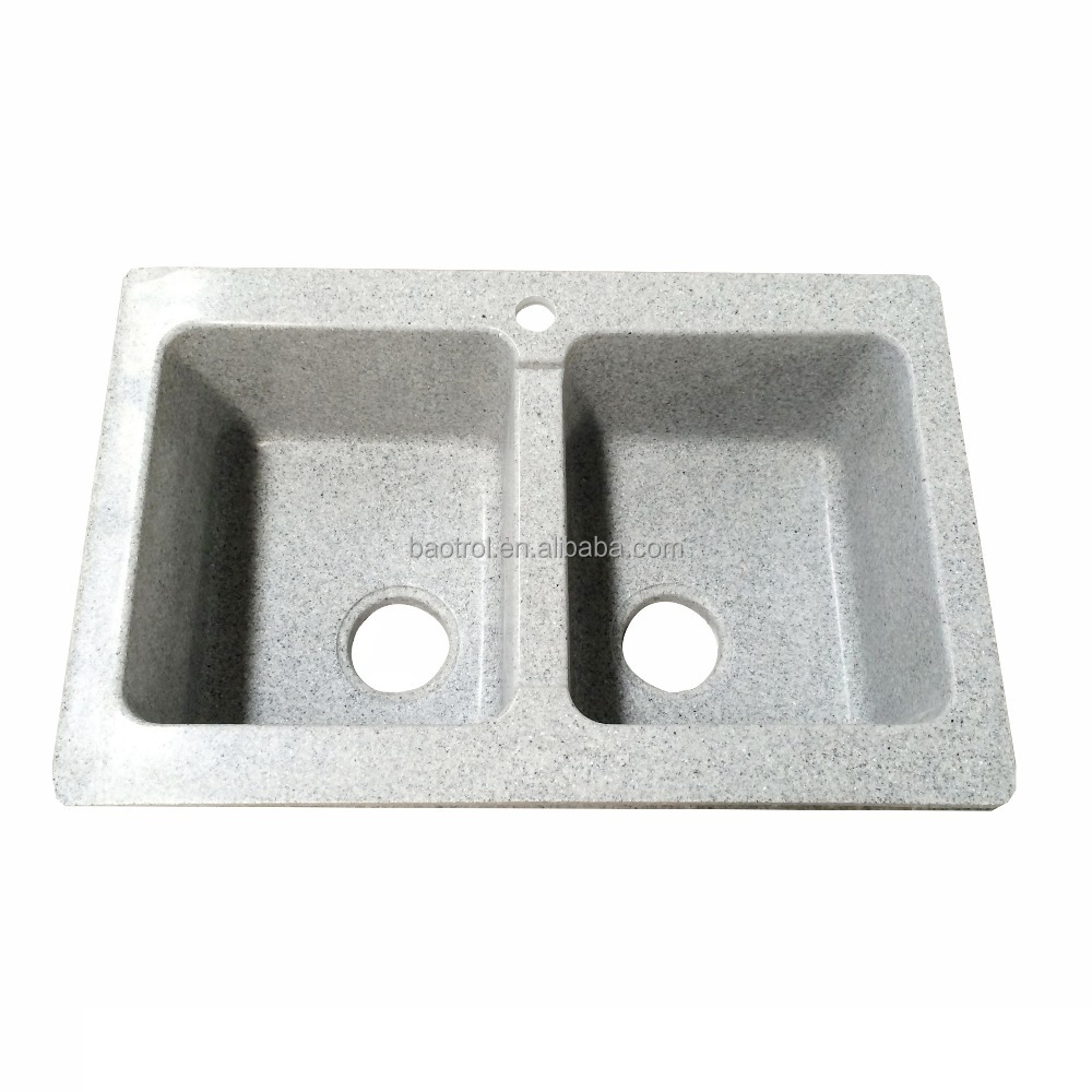 Africa style small double artificial stone kitchen sink