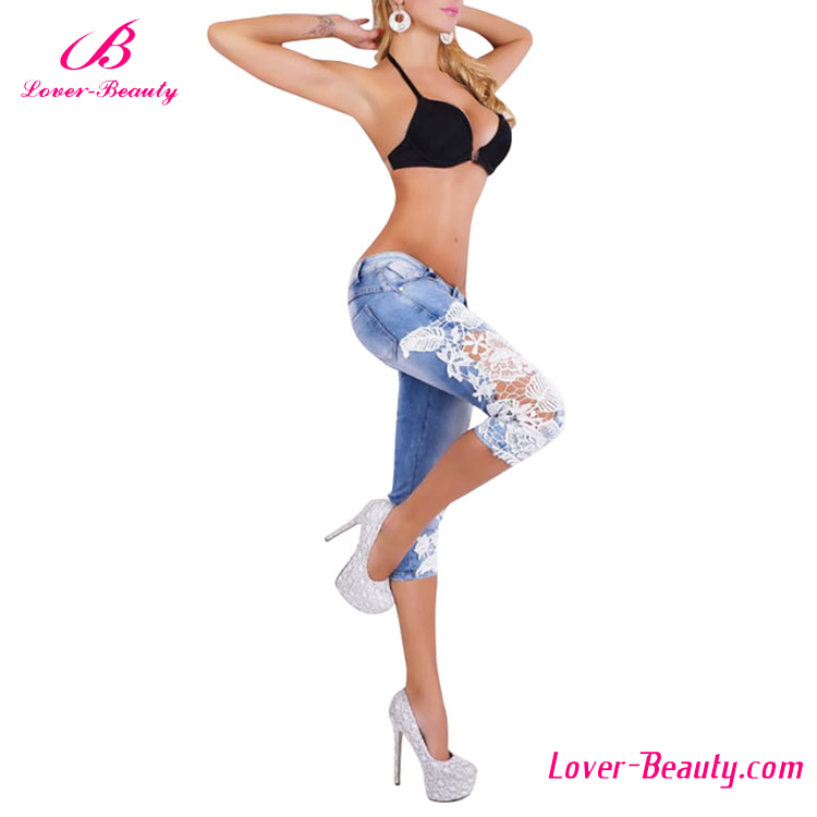 Denim high waist women jeans pants price wholesale china