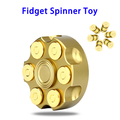 CE Approved 7 Minutes Fidget Toy, Copper Hand Spinner with Steel Bearing