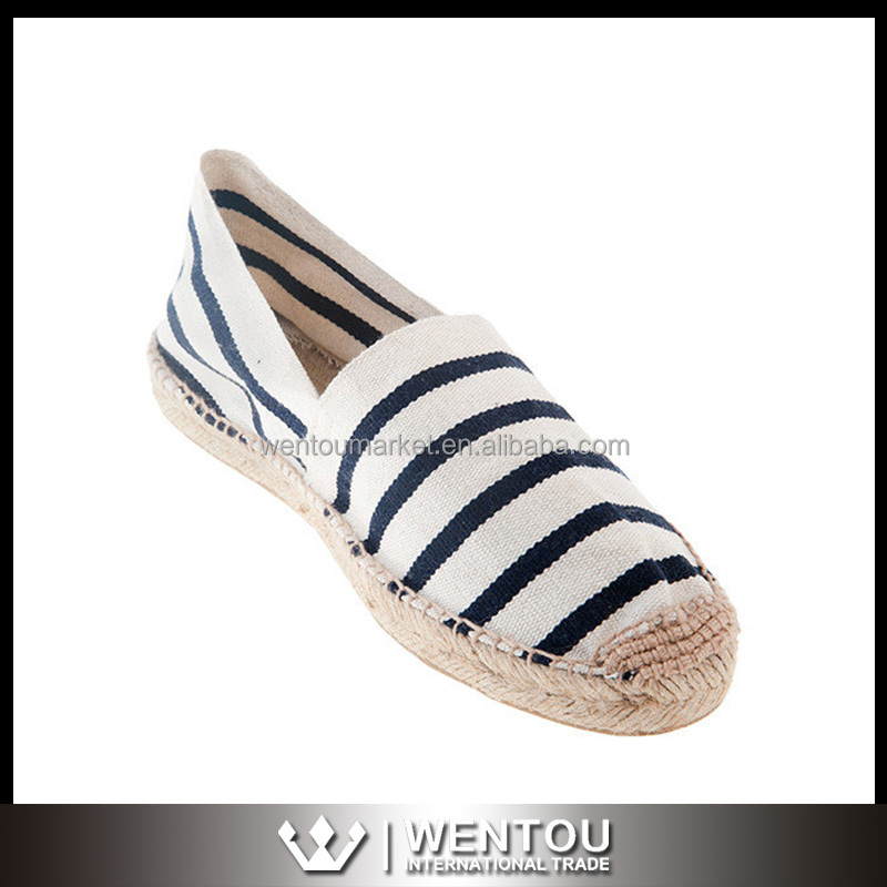 Women Stripe Sandals Espadrilles