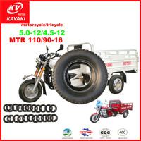 Wholesale Three wheel Motorcycle tricycle Tyres 5.0/4.5-12 8PR tricycle tires