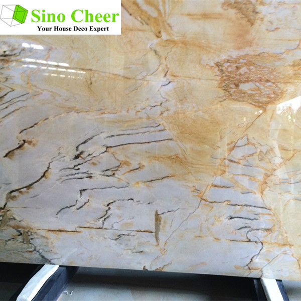 2017 hot sale China polished Yellow Honey Onyx Marble Stone Slab and Tile