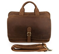 6020B J.M.D Genuine Crazy Horse Leather Men Business Laptop Bag
