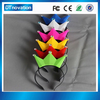 Wholesale crazy crown shape led headbands for party
