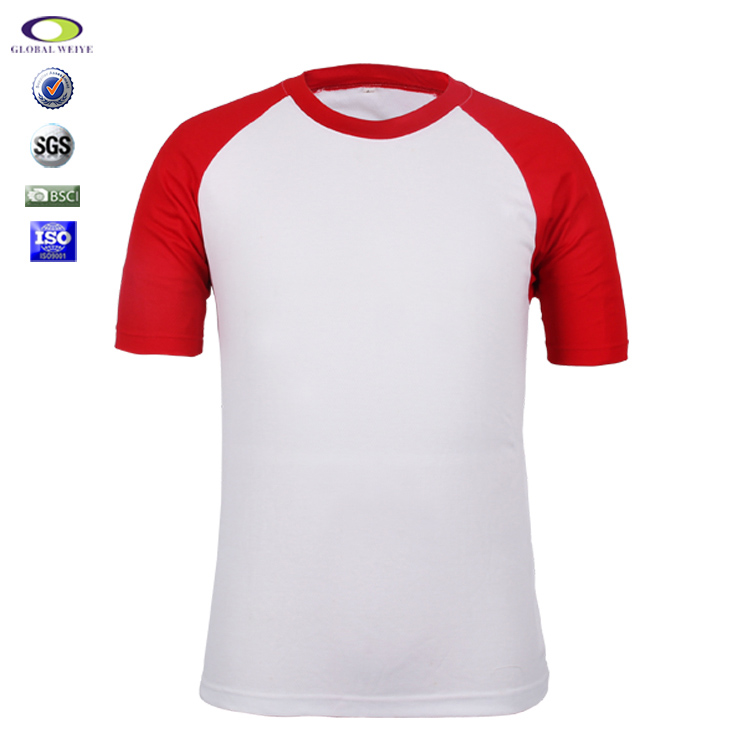 Custom Wholesale Blank Polyester Raglan T-Shirt For Man