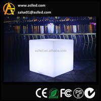 A2020 asl plastic multicolor changing led cube led glow cube furniture