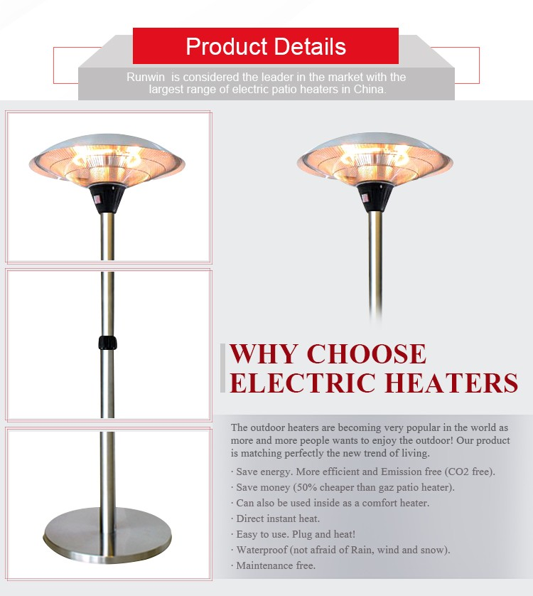 freestanding waterproof infrared heater for shower