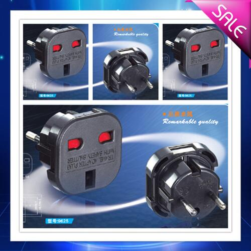 Quality safety UK to European <strong>plug</strong> travel adapter, uk to eu travel adapter <strong>plug</strong> uk 3 pin to eu 2 pin adaptor <strong>plug</strong> 9625