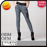 hot fashion tight elastic waist formal pants for girls