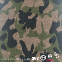 FW18 5% Wool 95% Polyester Camouflage Jacquard Fabric for Garment/Coats