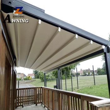 High density pergola awning system outdoor folding roof canopy motorized systems with great price