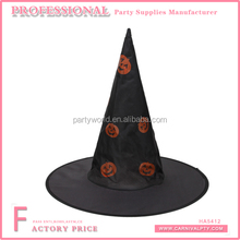 Wholesale witch hat to make backpakers perth pumpkin printed on the hats