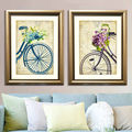 Wholesale 2 Pieces Set Canvas Wall Art Bicycle Poster Frame On Canvas For Living Room Decor