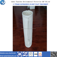 Dust Collector Fiberglass NonWoven Filter Bag For Cold Mix Asphalt Plant With Free Sample