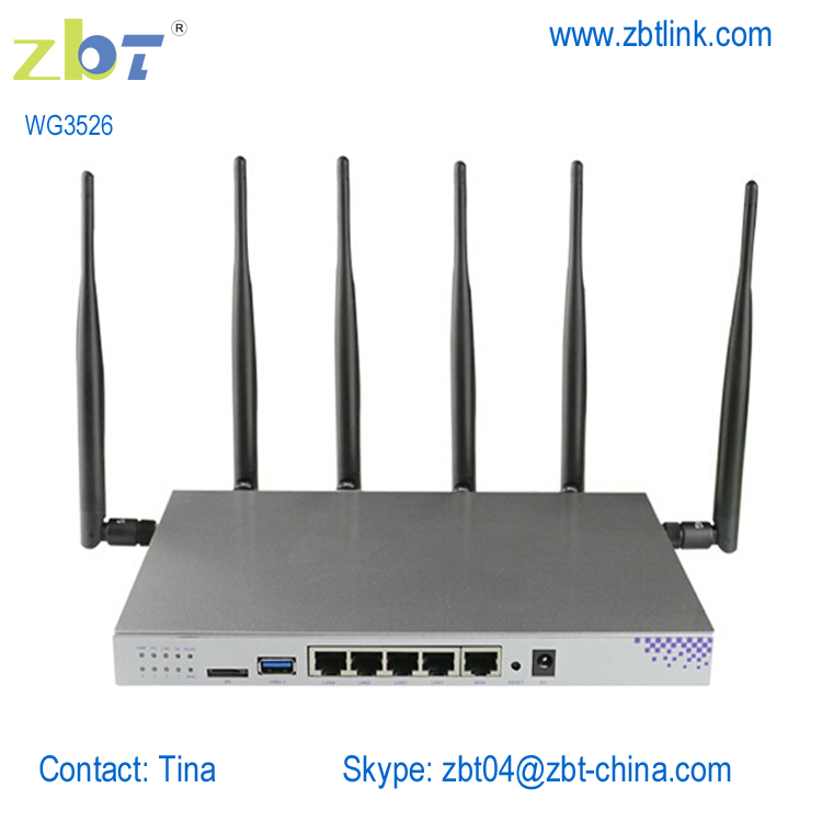 12v ac openwrt wireless 3g/4g lte wifi router 4 ethernet ports with sim