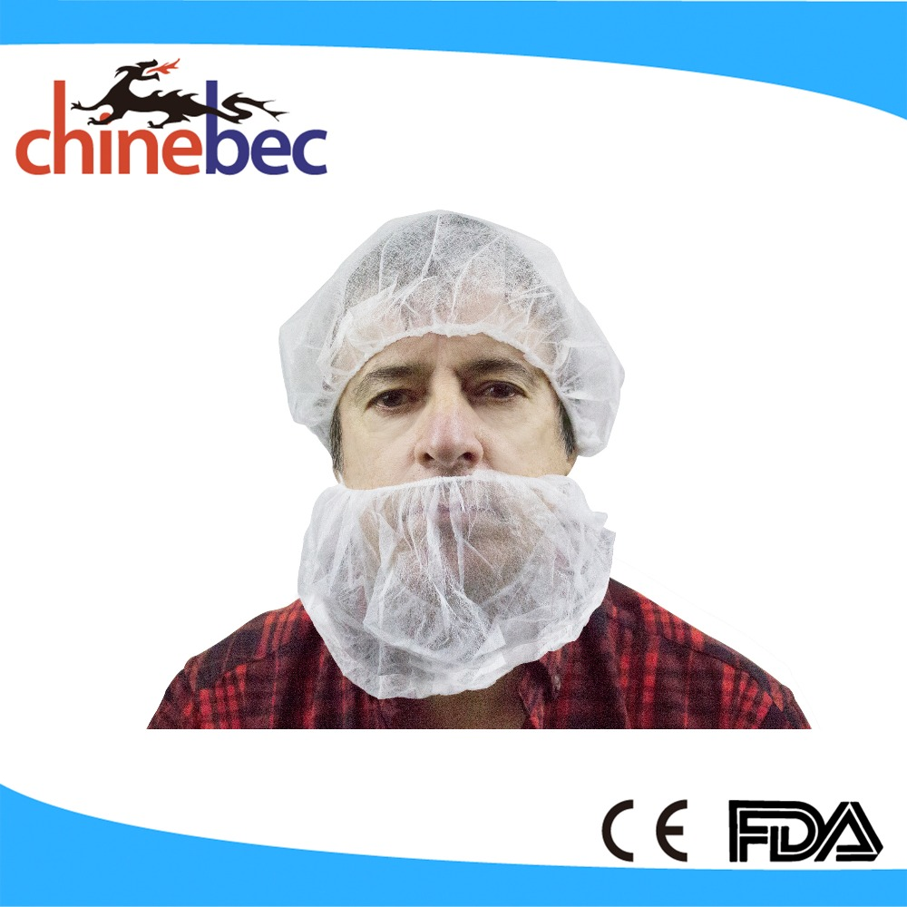 Protective Surgical Disposable Non-woven/Nylon Beard Cover with Elastic Head Loop