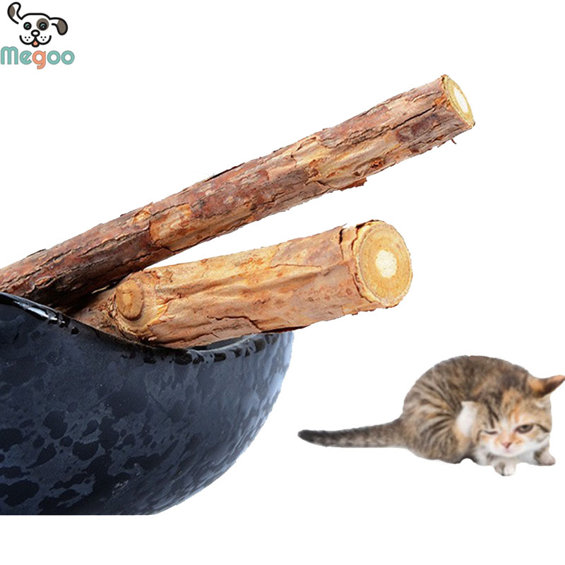2pcs/bag Heathy Catnip Stick Toy Teeth Cleaning Toys For Pet cat