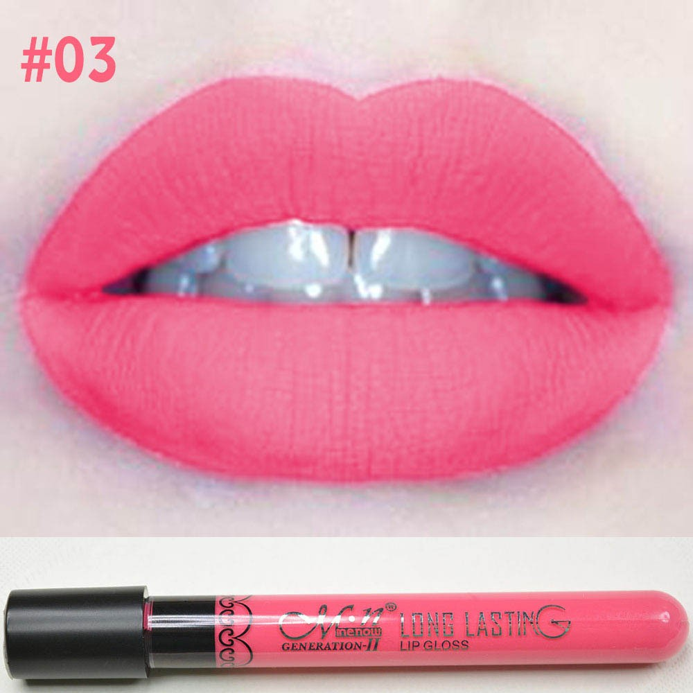 Hot Sales Women Ladies Waterproof Elegant Color Lipstick Matte Smooth Long Lasting Lip Stick Lipgloss