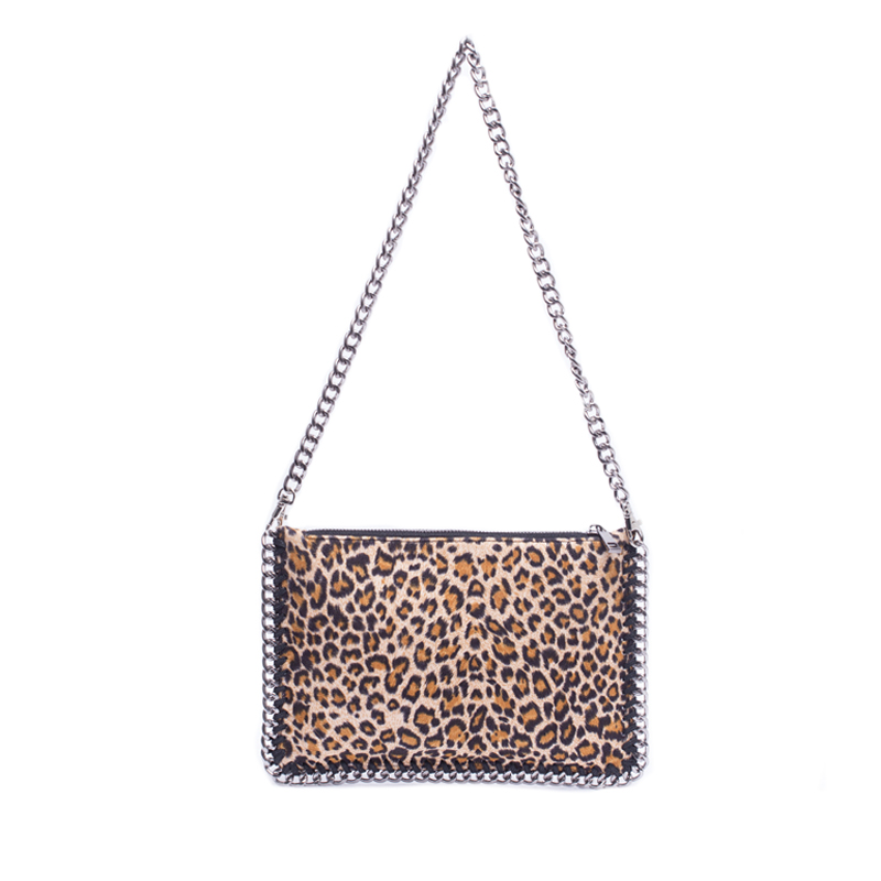 Wholesale custom big capacity leopard print evening clutch bag for ladies