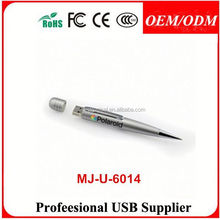 Deluxe Stainless Iron Ball Pen with USB Flash Drive-2 in 1,eco pen usb flash drive