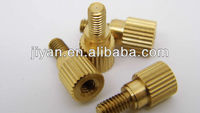 High precision brass knurled connection bolt