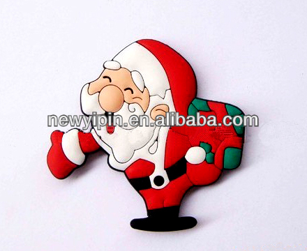 Christmas Santa Claus soft rubber Father Christmas promotional gift 3D PVC fridge magnet