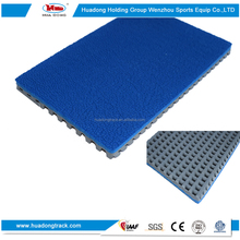Athletic track material rubber tennis court synthetic surface running track