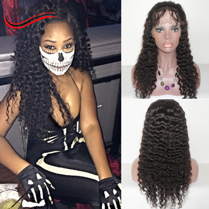 wholesale and retail 100% brazilian deep wave full lace human hair wigs with baby hair / perucas de cabelo humano