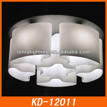 Ceiling lamp for room KD-12011 white glass ceiling lamp