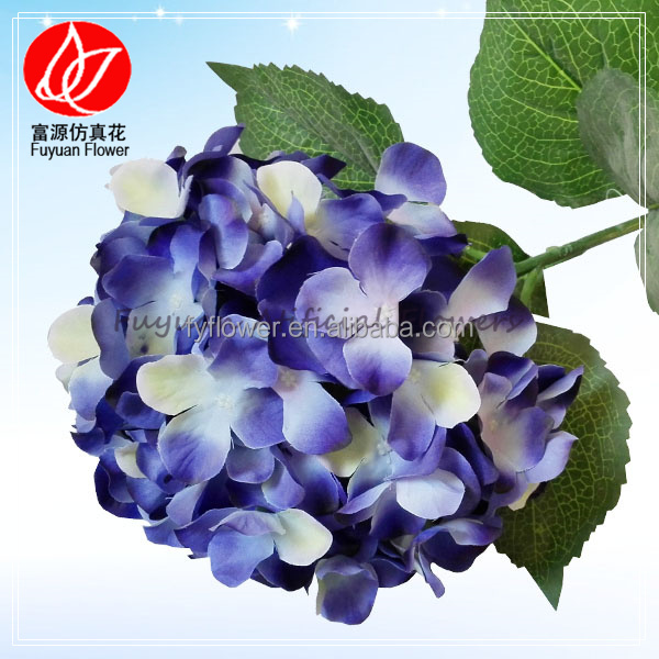140610 flores artificiales for flower arrangement and home decoration artificial flower blue hydrangea