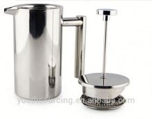 Stainless steel egg shape coffee pot and milk set with plastic handle