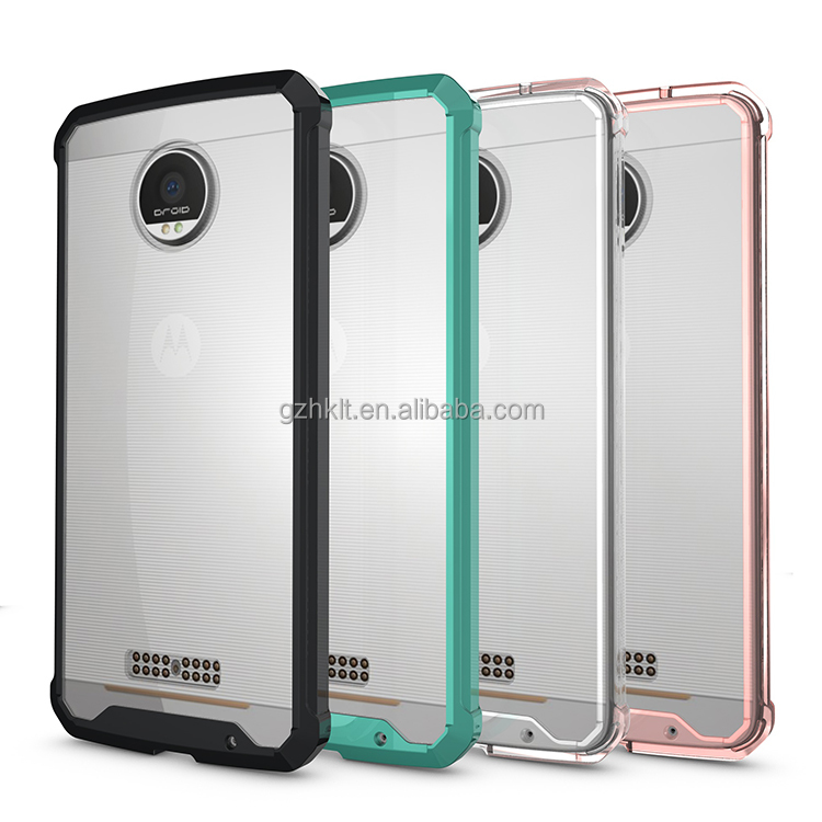 amazon hot sale crystal clear latest 5g mobile phone case Tpu+acrylic For Moto G 4