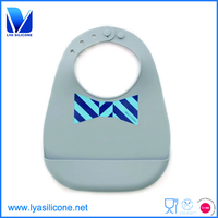 Custom best waterproof silicon baby bib