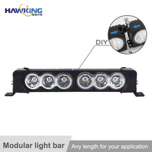High quality single row led module light bar for atv 4x4 off road auto car China factory supply