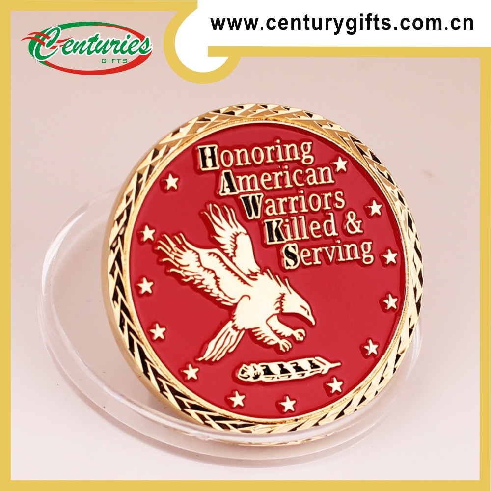 2015 hotsale American Warriors kunshan centuriesgifts gold eagle coin, various edges and designs are welcome