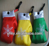 Wholesale Fold Up Reusable Shopping Bags/Promotion Christimas Gift