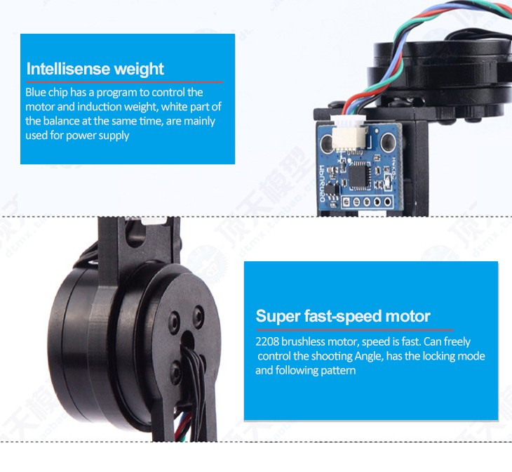 Best Brushless Gimbal Camera Mount Motor & Controller for Gopro3, 4 FPV Aerial Photography