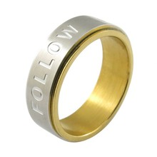 Plated Gold rings stainless steel jewelery guangzhou gemstone jewelry market