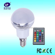 2016 New Products E27 16 Color Led Light 10W RGB Led Bulb with IR Remote