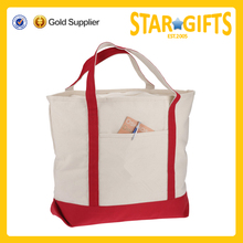 China supplier oem cheap cotton canvas european tote bag with front slip pocket