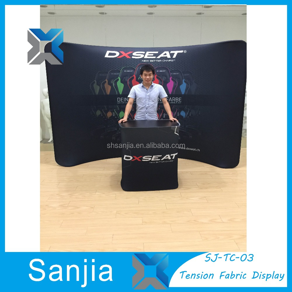 Aluminum Tension Fabric Exhibition Booth Pop Up Display Stand