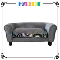 No Need Assembly House Shape Cute Wooden Dog Furniture