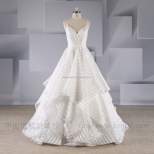 Newest Design Chinese White Beach Lace Lace Open Back Bridal Wedding Dress