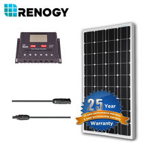 Renogy 100 Watt 12V Mono Solar Panel Power System Bundle Kit Off Grid for RV Boat Home