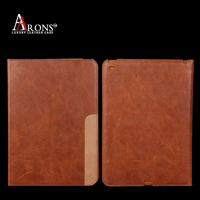 Book design top grain leather tablet cover & case customize