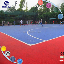 Outdoor basketball/tennis/ muti courts interlocking indoor futsal flooring price