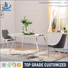 Dining table set restaurant glass rectangle 8 seater dining table