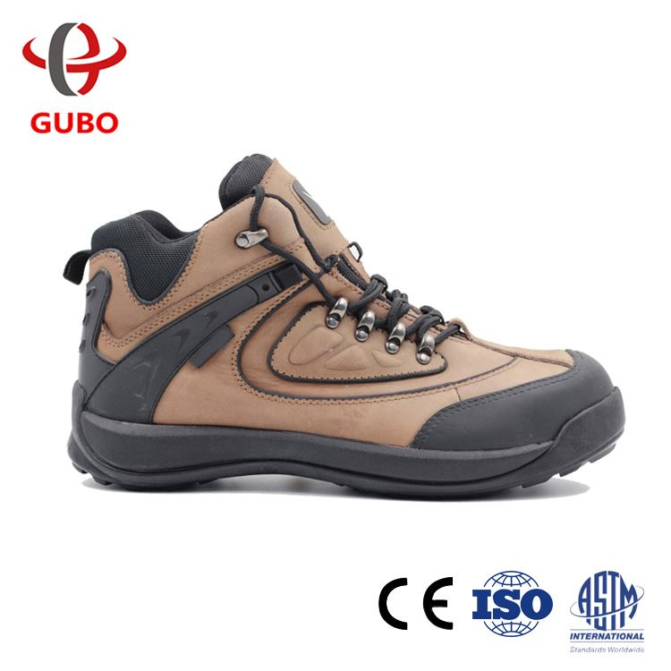 Famous Brand Rubber Sole Heavy Duty Safety Shoes Brown Work Footwear